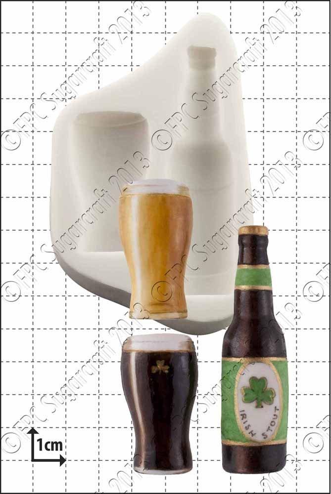Molde de silicona   de botella y cristal por FPC molde de fondant, resina, cera molde, molde de Fimo, Craft molde: Amazon.es: Hogar