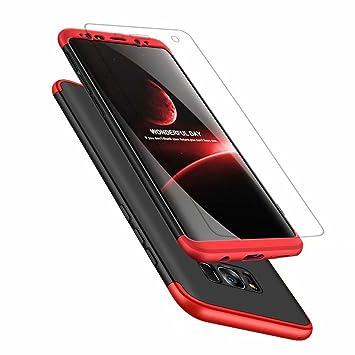 Funda Samsung Galaxy A8 2018 360°Caja Caso + Vidrio Templado Laixin 3 in 1 Carcasa Todo Incluido Anti-Scratch Protectora de teléfono Case Cover para ...