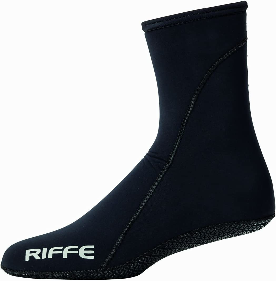 Riffe New 2mm 3D Dive Sock W/Grip Sole - 2Mm