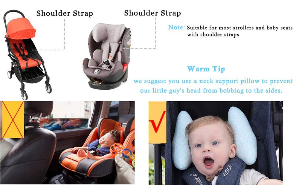 Beige, One size Baby Kopfkissen gegen Kopfverformung und Plattkopf Baby Sicherheitskissen U-Form-Spazierg/änger Kopf-Hals-Unterst/ützuns,Sicherheit Carseat justierbares Ansatz Relief-Kissen-Kissen