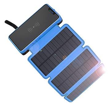 FZLBN Cargador Solar para Moviles Power Bank 20000mAh ...