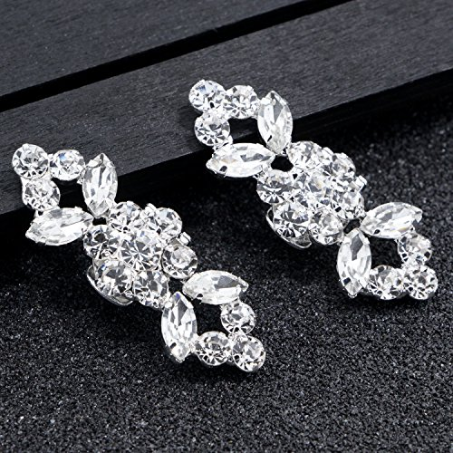 2PCS Fashion Crystal Rhinestone Shoe Clips Shoes Decoration Charms Shoe Buckle for Women Girls Party Bridal Wedding by Fodattm (Image #4)