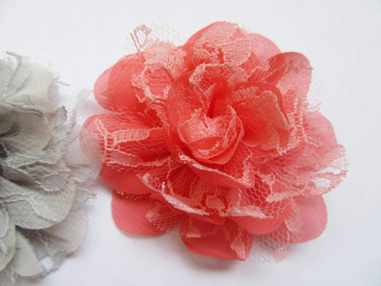 b/éb/é fille Bandeau Cheveux n/œuds Craft 14pcs 2.5 Chiffon Lace Flower 2.5 Yycraft Fleur en mousseline pour Ornements de couture