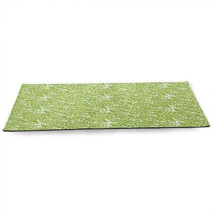 Amazon.com : funkky Green Fitness Yoga Mat Watercolor Hand ...