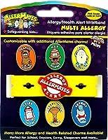 Allermates Kids Allergy Health Alert Multi Charm Wristband