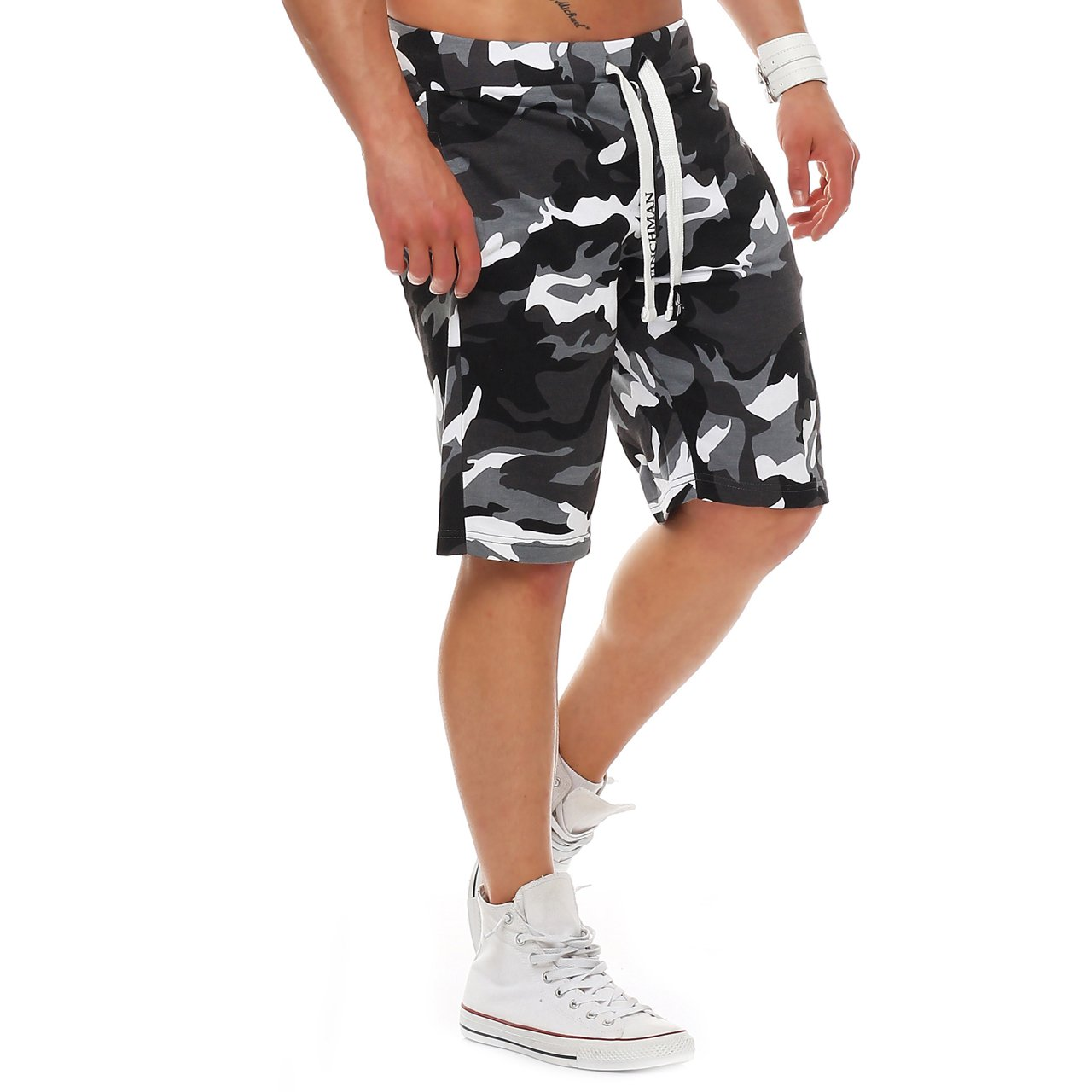 Finchman Mens Cotton Sweat Short Shorts Bermuda Sweatpant