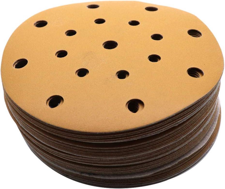 TigerShark 6 Inch Sanding Discs 17 Hole Wet Dry Grit 3000 20pcs Pack Special Anti Clog Coating Film Green Line Hook and Loop Dustless Random Orbital Sander Paper Ultra Fine