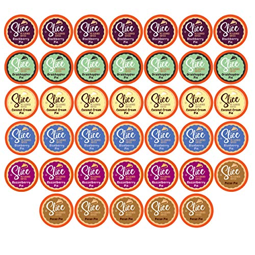 Slice Flavored Coffee, Variety Pack for Keurig K Cup Brewers, 40Count