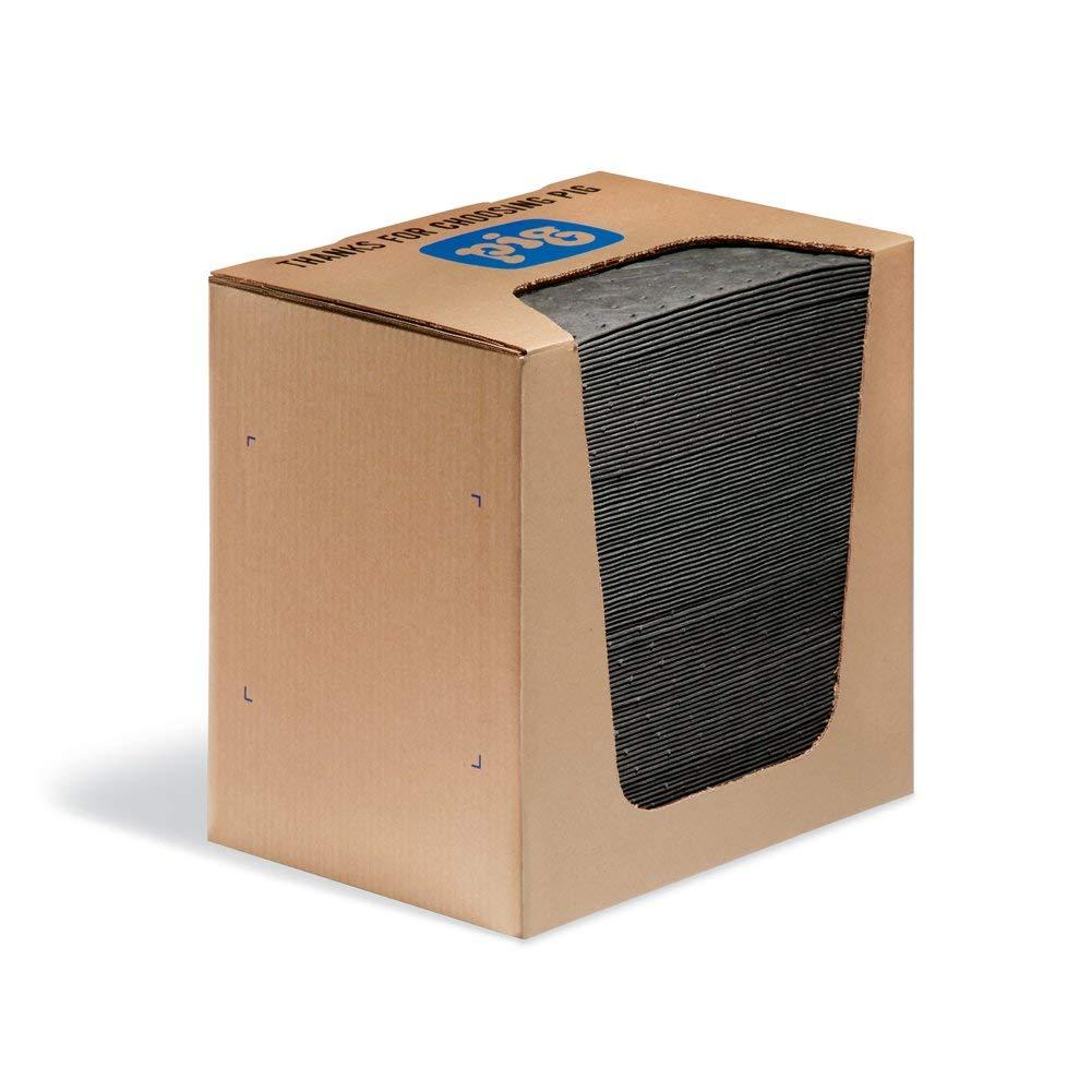 New Pig Mat Pads in Dispenser Box - 100 Absorbent Mats - 12 Ounce Absorbency - 13'' x 10'' - MAT251 (Pack of 4)