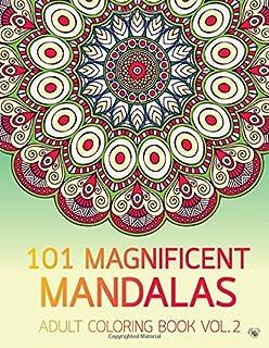 101 Magnificent Mandalas Adult Coloring Book Vol2 Anti Stress Adults To