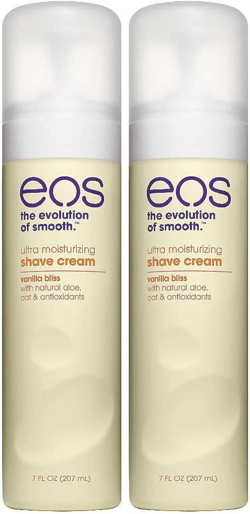 EOS Ultra Moisturizing Shave Cream, Vanilla Bliss - 7 oz - 2 pk