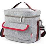 Fashion Waterproof Insulated Lunch Bag Portable Single Shoulder Strap Lunch Bag Suitable for Adults/Men/Women/Children