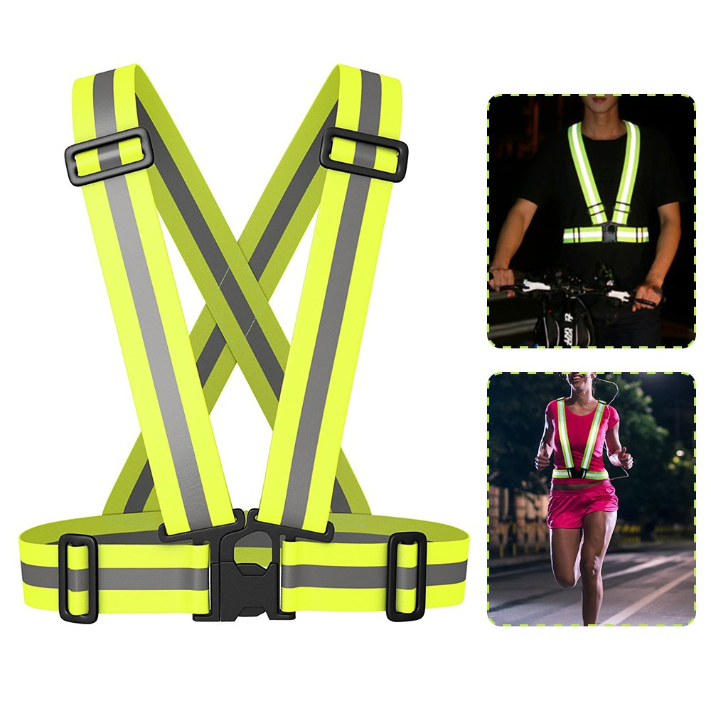 Reflective Vest Elastic & Adjustable Reflective Gear with Hi Vis Bands | High Visibility for Running,Dog Walking,Jogging,Cycling,Motorcycle Safety (2 Pack) by Sunta (Image #6)