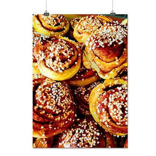 Dessert Protein Fresh Cinnamon Roll (Cinnamon Roll Buns Sweet Dessert Matte/Glossy Poster A3 (12x17 inches) | Wellcoda)