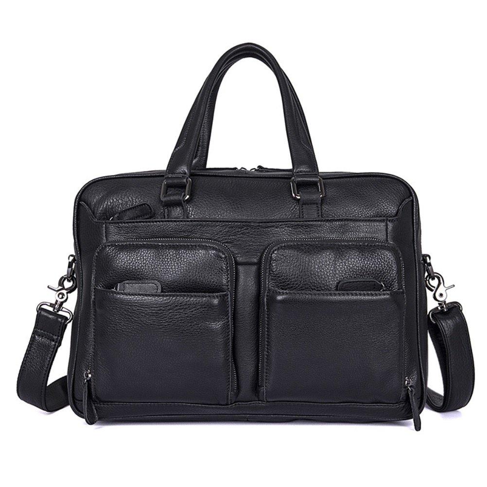 SHISHANG Herrenhandtaschen Frühling Sommer Herren Tasche lässig Neue Aktentasche 14 Zoll Laptop Tasche Schulter Schwarz Messenger Tasche große Kapazität Tasche ZYXCC