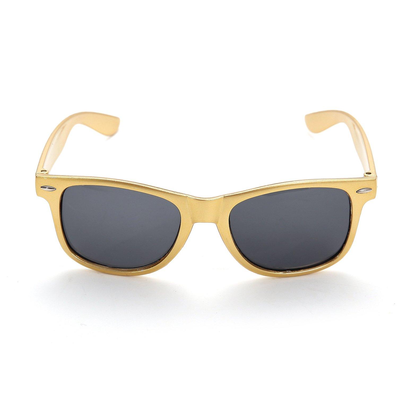 OAONNEA 12 Pares Años 80 Neon Gafas de Sol de Colores Fiesta Adulto (12Oro)