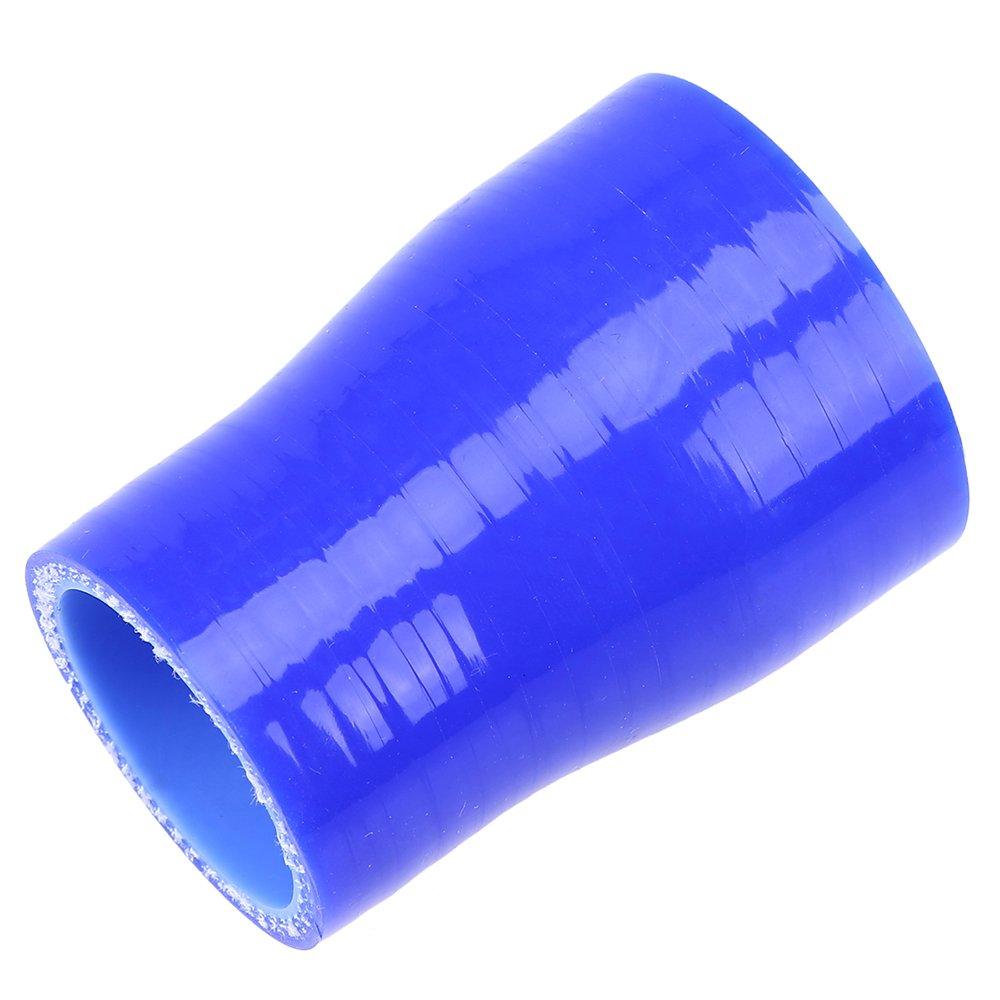 POSSBAY 76-89mm Auto Silikon Schlauch gerade Schlauchverbinder Blau