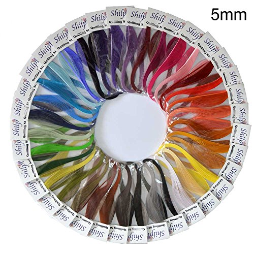 Shilpi Quilling Paper 1750 Strips Set - 5mm, 35 Colors, 35 Packs