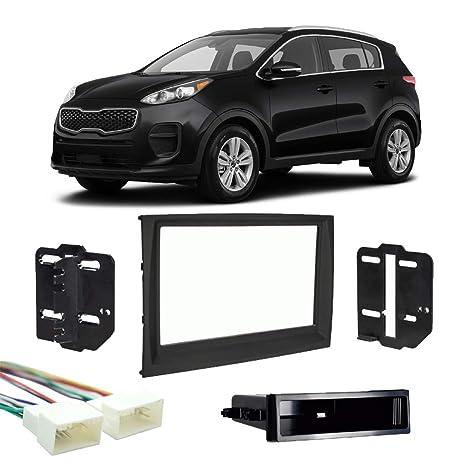 amazon com: fits kia sportage 2017-2019 single din stereo harness radio  install dash kit new: car electronics