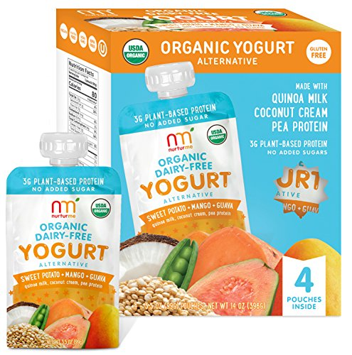 NurturMe Organic Dairy Free Yogurt, Sweet Potato, Mango and Guava, 4 Count (Pack of 6)