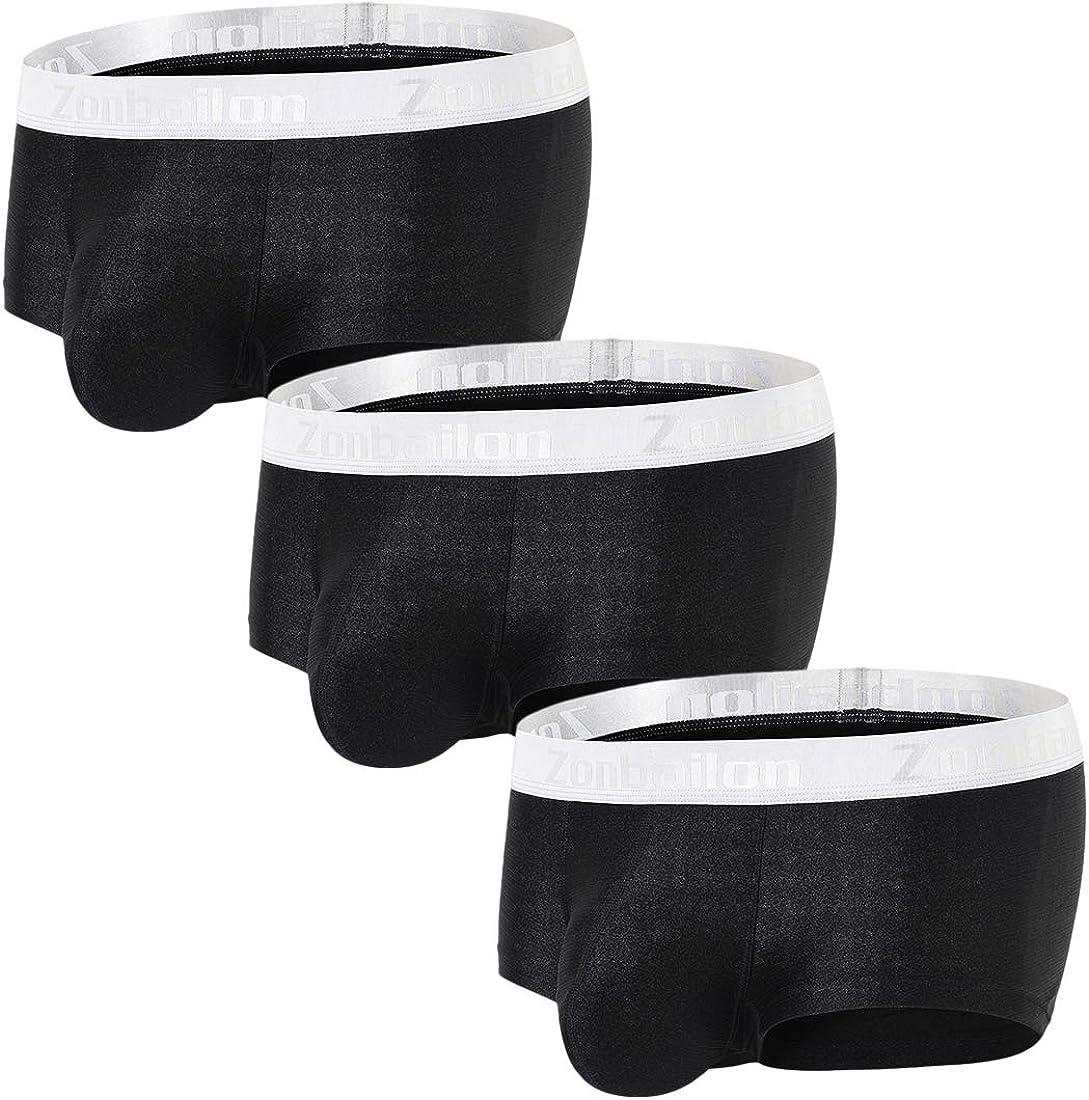 Men Ice Silk Underwear Shorts Boxer Trunk JJ Sheath Pouch Panty Pantyhose L-XL