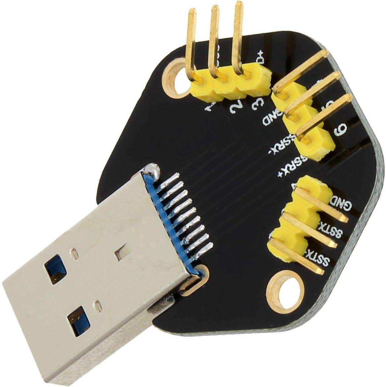 Ctghgyiki 3.0 USB Male to Dip 2.54mm 9-Pin Module for Breadboard DIY LDTR-W02 Module