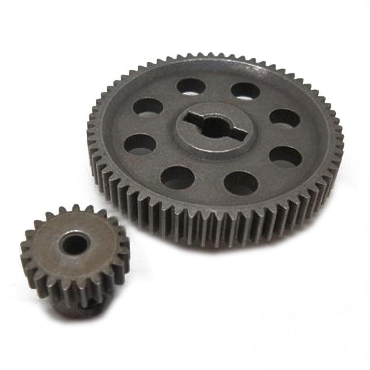 WINOMO HSP 11184 11181 ingranaggio differenziale principale 64 denti denti per auto modelli radiocomandati 1//10 94111 9417 ingranaggio motore 21