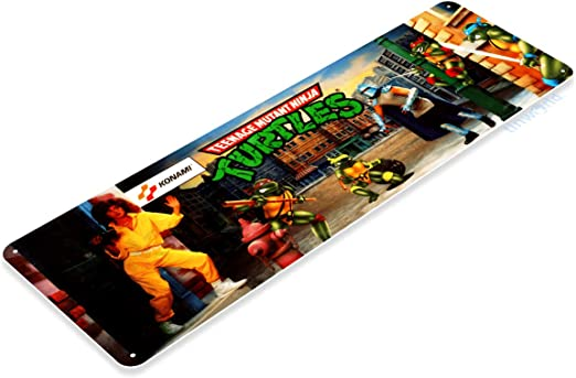 Tinworld Tin Sign Ninja Turtles Arcade Shop Game Room Marquee Metal Sign Decor Retro Console A524