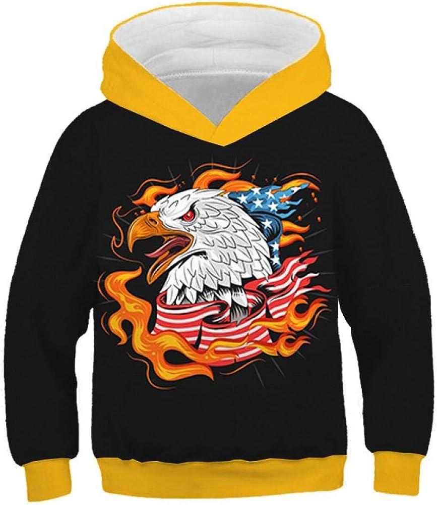 Sudadera con Capucha para Niños Águila De Fuego Impresión 3D Casual para Niños Camisa Niñas De Manga Larga Unisex con Capucha De Otoño E Invierno 2-12 Años, Kid-4, 100CM: Amazon.es: Ropa y