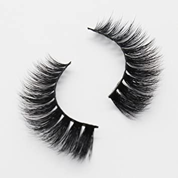 8d1747a066b Amazon.com : Ptcharming Handmade Voluminous 3D Mink False Eyelashes-Thick  Huge Dramatic Looking, Reusable with Sturdy Flexible Band, Cruelty Free  PT-MYD09 : ...