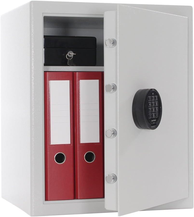 Rottner Oliver 500 - Caja Fuerte con Cerradura electrónica y Corriente de Emergencia, Color Gris Claro Certificado VDMA B.: Amazon.es: Bricolaje y herramientas