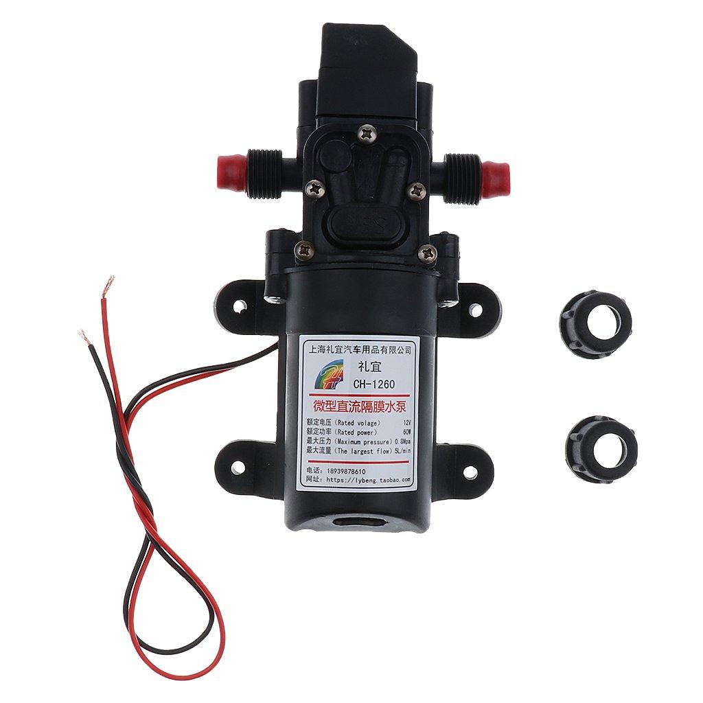 MagiDeal 12V High Pressure Auto Diaphragm Water Pump 5L/min 100 PSI Pressure Switch