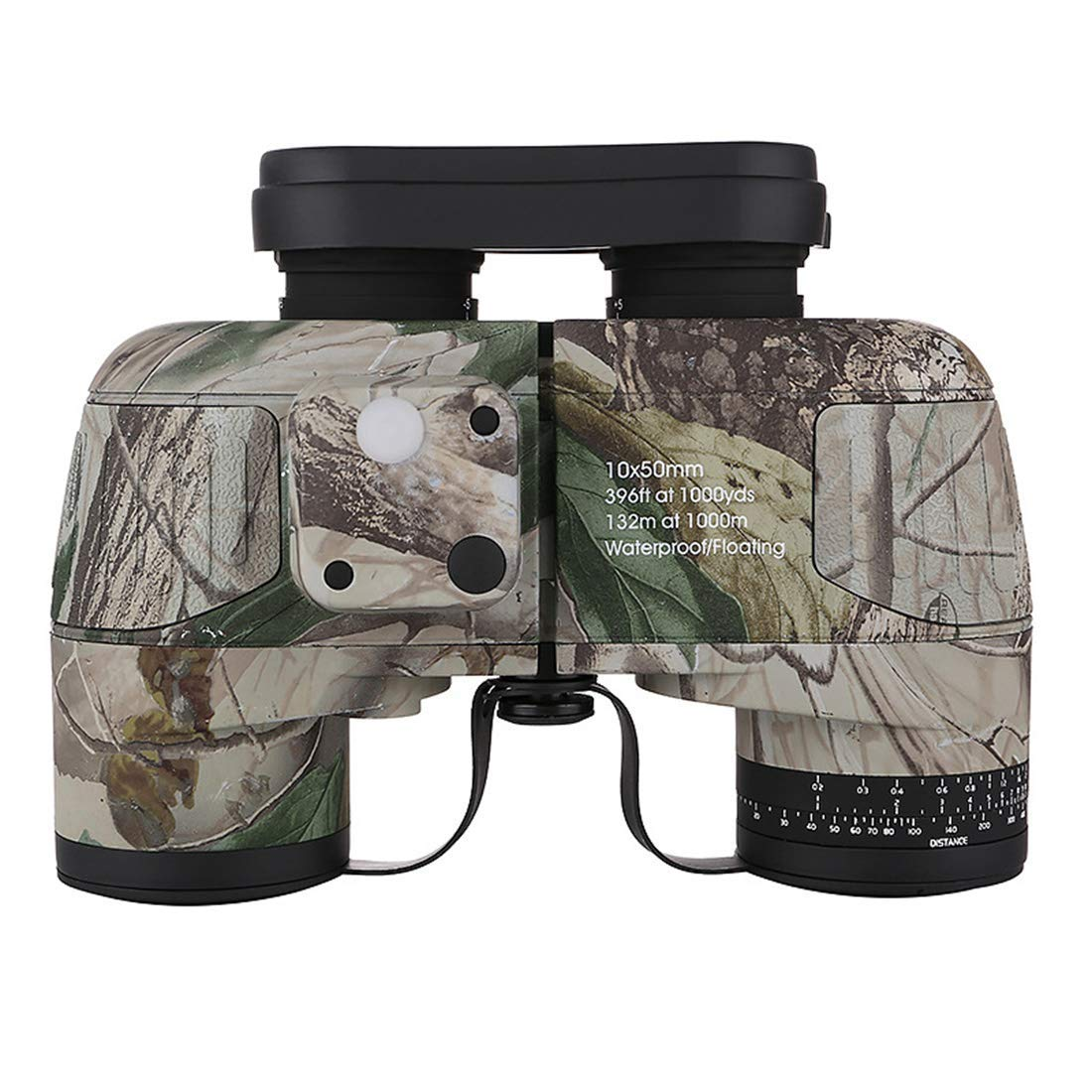GRJWYJ Binoculars, Navigation Compass for Night Vision Low Lightness HD, Monitor for Outdoor Use 10x50 (Color : Camouflage)
