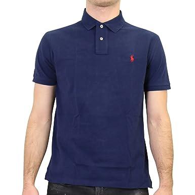 Polo Ralph Lauren Basic Azul Hombre Large Azul: Amazon.es: Ropa y ...