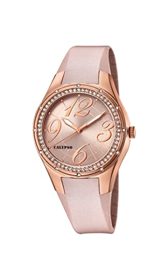 Calypso Reloj Análogo clásico para Mujer de Cuarzo con Correa en Plástico K5721/6: Calypso: Amazon.es: Relojes