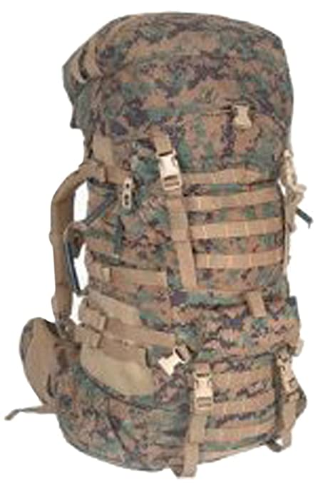 b18d9db33e2 Amazon.com : Military Outdoor Clothing, Used, Previously Issued U.S. G.I. USMC  MARPAT Large ILBE Complete Field Pack with Lid and Hip Belt : Tactical ...