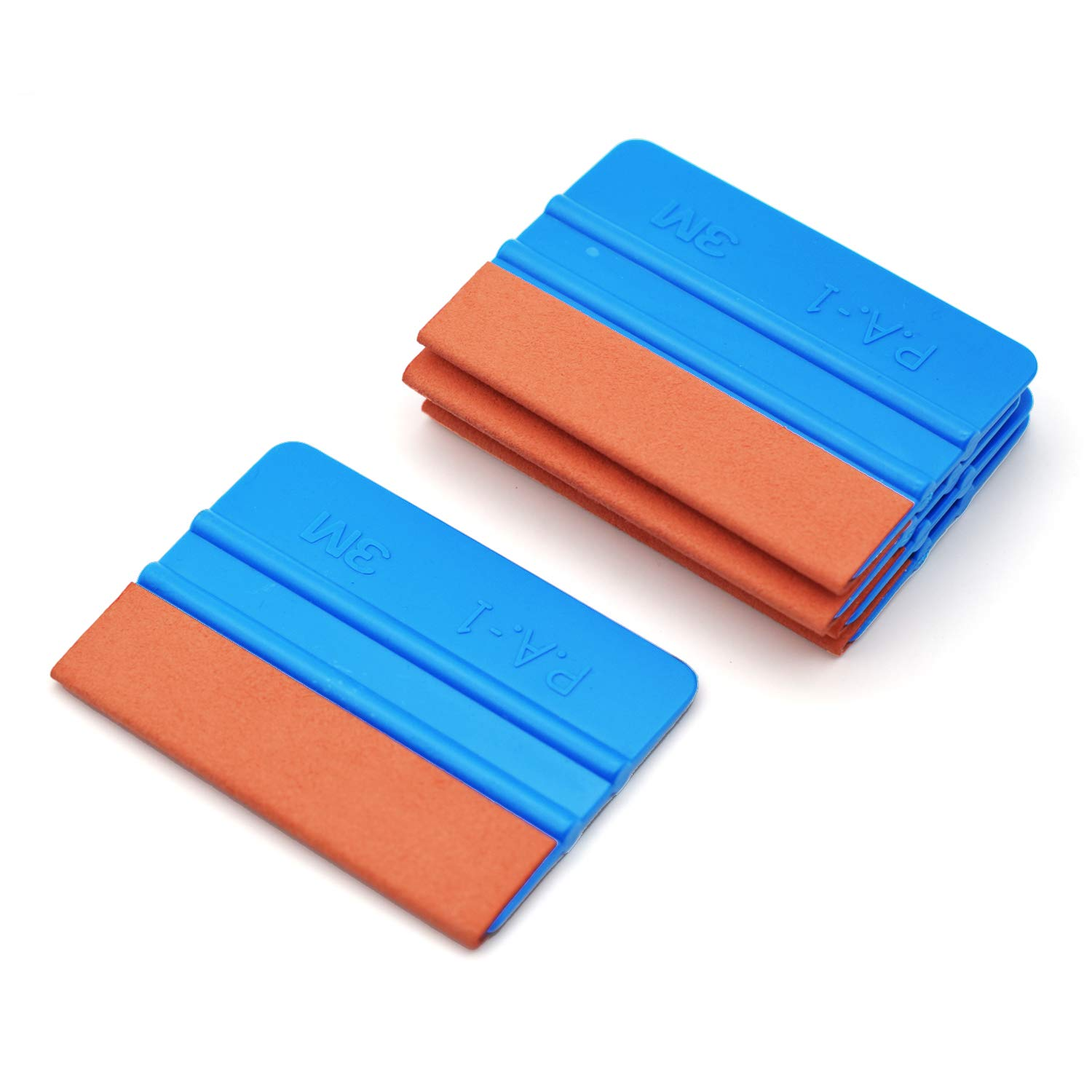 CARTINTS 5 Pack Automotive Suede Felt Edge Squeegee for Vinyl Film Scraper Decal Applicator Tool Wallpaper Tool Window Tint Tool for Auto Vinyl Wrap, Window Tinting, Wallpaper Installing-4 Inch