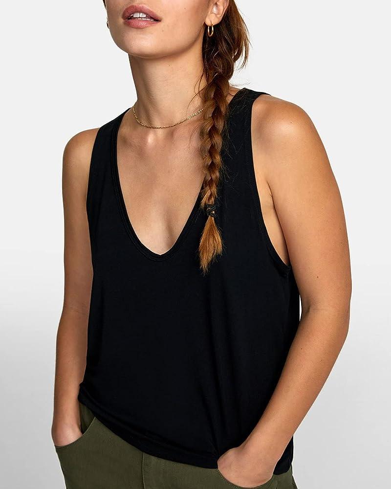 Details about  /RVCA Women/'s Graphic Racerback Tank Top Shirt Choose SZ//color