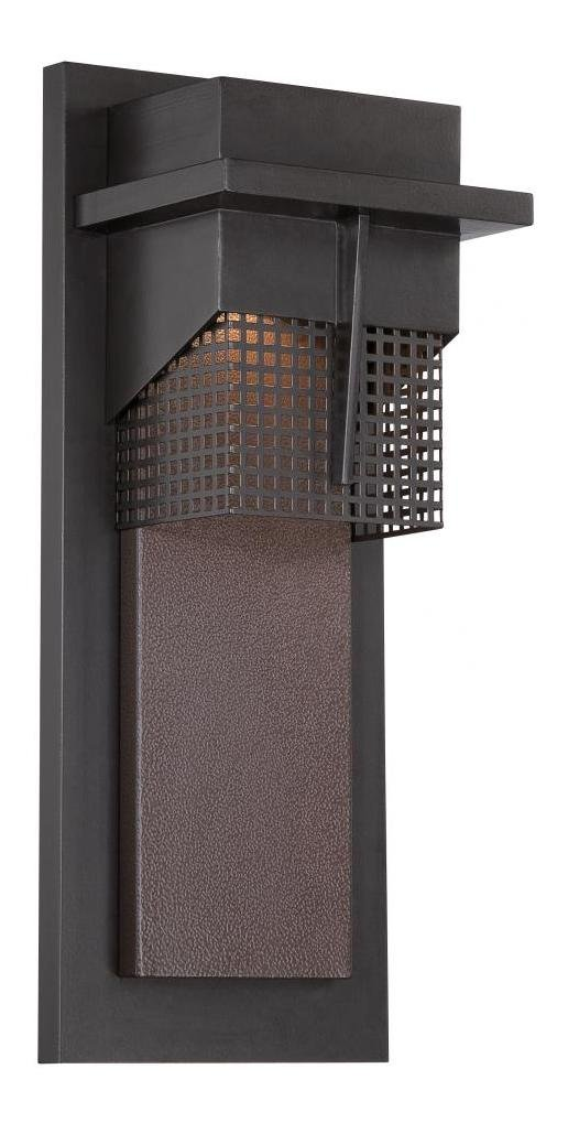 Burnished Bronze Beacon 1 Light Outdoor LED Wall Sconce