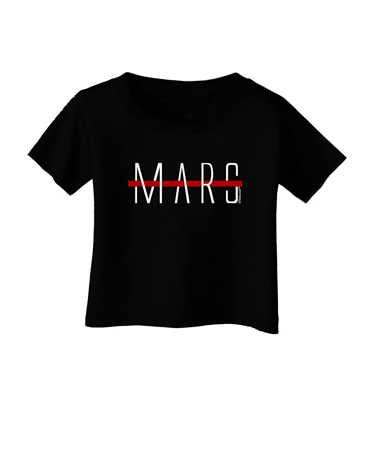 TooLoud Planet Mars Text Only Infant T-Shirt Dark