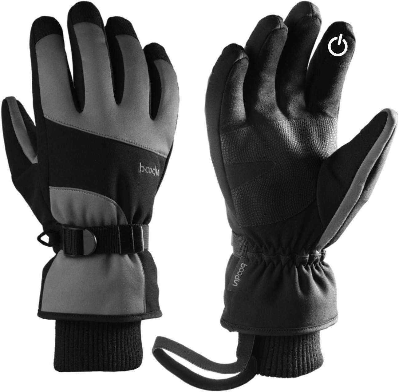 Gants de ski et de neige KINGSBOM imperm/éables 3M Thinsulate hiver chaud /écran tactile Gants de snowboard pour hommes et femmes