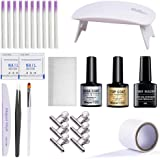 Rosydream Professional Fiberglass Nail Kit Fiber Nails Extension and Repair for Nail Building Extension Tips Manicure Salon Tool Set