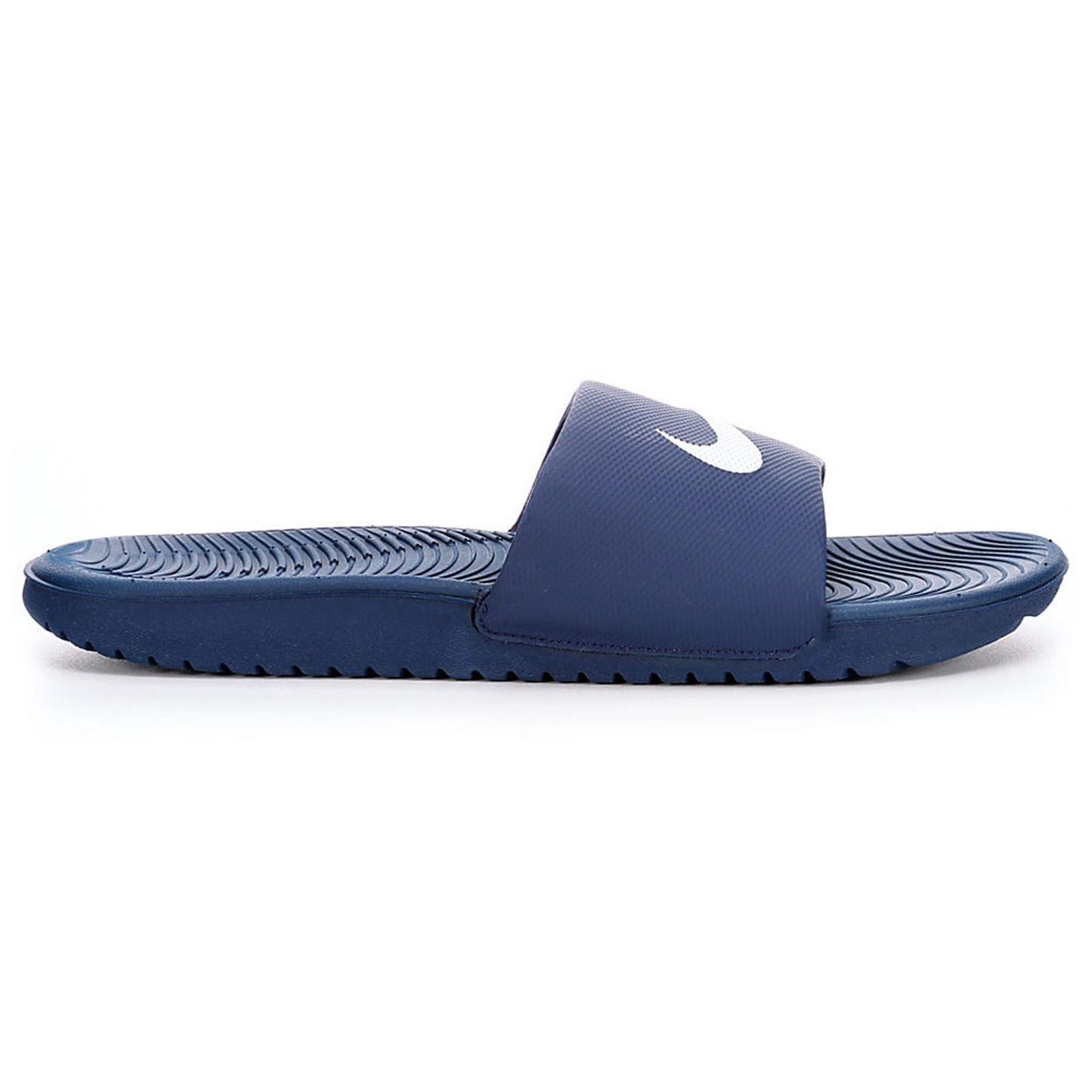 8f8f102e93bcc5 Galleon - Nike Men s Kawa Slide Athletic Sandal Midnight Navy White 10 D US