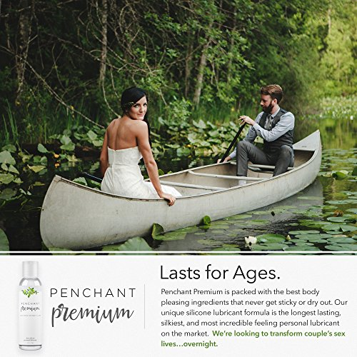 Intimate Lubricants for Sensitive Skin by Penchant Premium - Silicone Based, Discreet Label - Best Personal Lube for Women and Men - Lubrication Gel Without Parabens or Glycerin 4oz