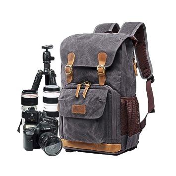 Bolsa para cámara, Lona SLR DSLR cámara de Gran Capacidad Frontal ...
