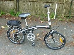 "Best Choice Products 6 Speed Bike Fold Storage Folding Bike, 20""/One Size, Black"