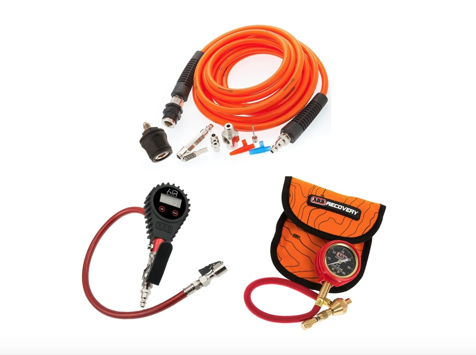 ARB DIGITAL Tire Inflator Bundle w/ Tire Inflation Kit For Air Compressors & E-Z Deflator Kit