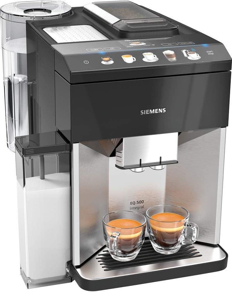 Siemens EQ.500 TQ507DF3 cafetera eléctrica Cafetera de Filtro 1,7 L Totalmente automática EQ.500 TQ507DF3, Cafetera de Filtro, 1,7 L, Granos de café, Molinillo Integrado, 1500 W, Negro: Amazon.es: Electrónica