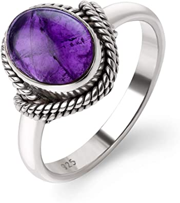 AMETHYST PURPLE C.Z BAND RING All Sterling Silver.925 Sizes 7 /& 8