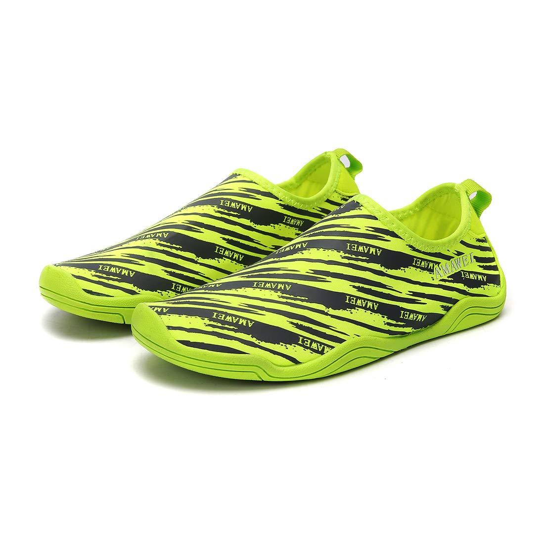 VAMV Water Shoes for Kids Boys Girls Beach Swim Shoes Slip On Aqua Sock